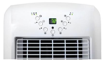 NewAir AC-10100E Ultra Compact Portable Air Conditioner Controls