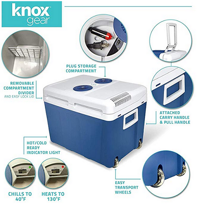 Knox Electric Cooler and Warmer Features